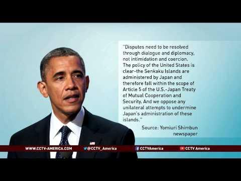 Obama: U.S.-Japan Treaty Applies to Disputed Islands
