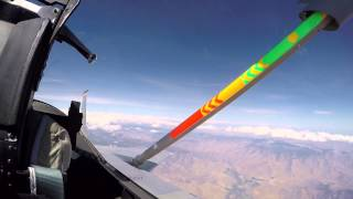 NASAs F-15 takes a pit stop to fuel up at the gas station in the sky