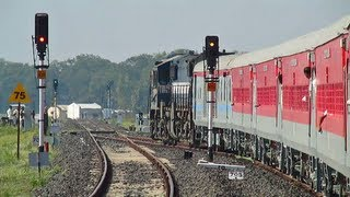Shining LHB 09307 INDB-YPR Pooja Special departs Chandur Bazar for the first time!