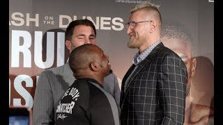 SIZE DIFFERENCE!- DILLIAN WHYTE CLOWNS MARIUSZ WACH IN HEAD TO HEAD @ FINAL PRESS CONFERENCE
