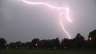 Anvil Crawler Lightning over Queens NY - 8/18/2017