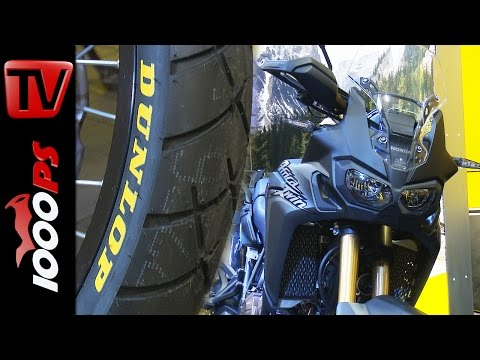Dunlop TrailSmart Honda Africa Twin 2016 | Über Reifenfreigabe