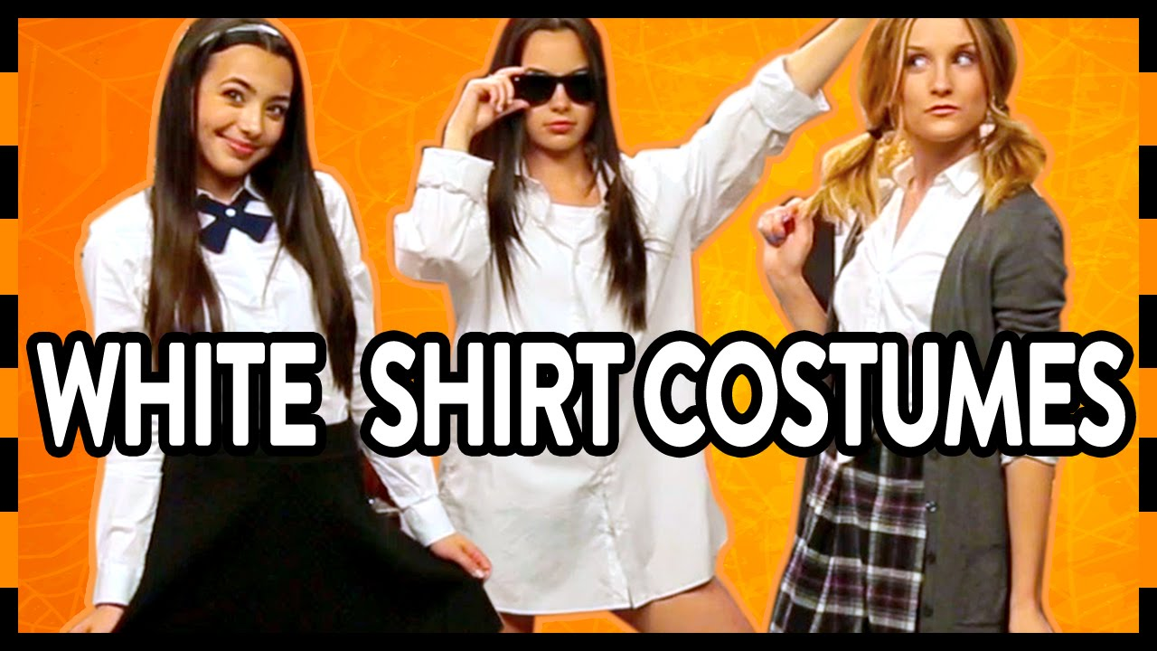3 last minute halloween costumes with a white shirt! - youtube