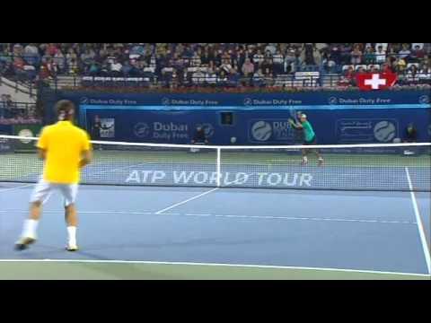 Somdev Devvarman awesomeforehand  against Federer