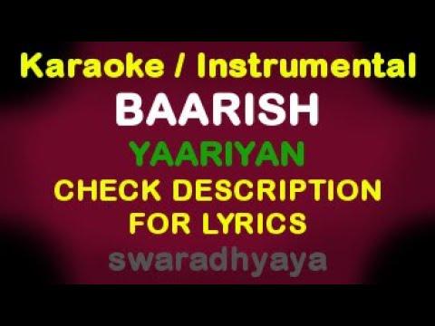 Baarish - Yaariyan with Lyrics on Piano / Instrumental Music / Karaoke By KeyboardTeacher