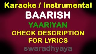 Baarish - Yaariyan with Lyrics on Piano / Instrumental Music / Karaoke By KeyboardTeacher