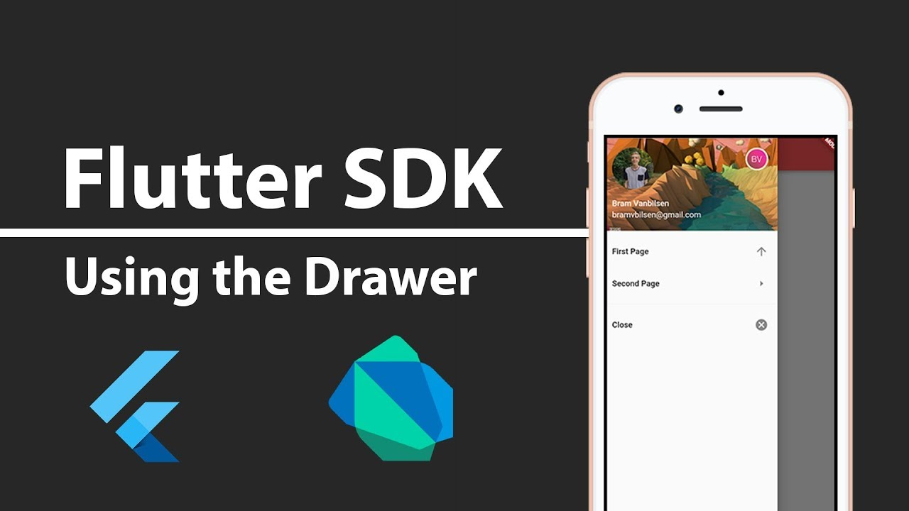 Flutter SDK Tutorial - Building a Beautiful Sliding Side Menu Using a Drawer
