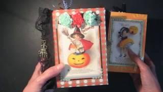 Halloween Pocket Scrapbook Mini Album (with links to free tutorial)