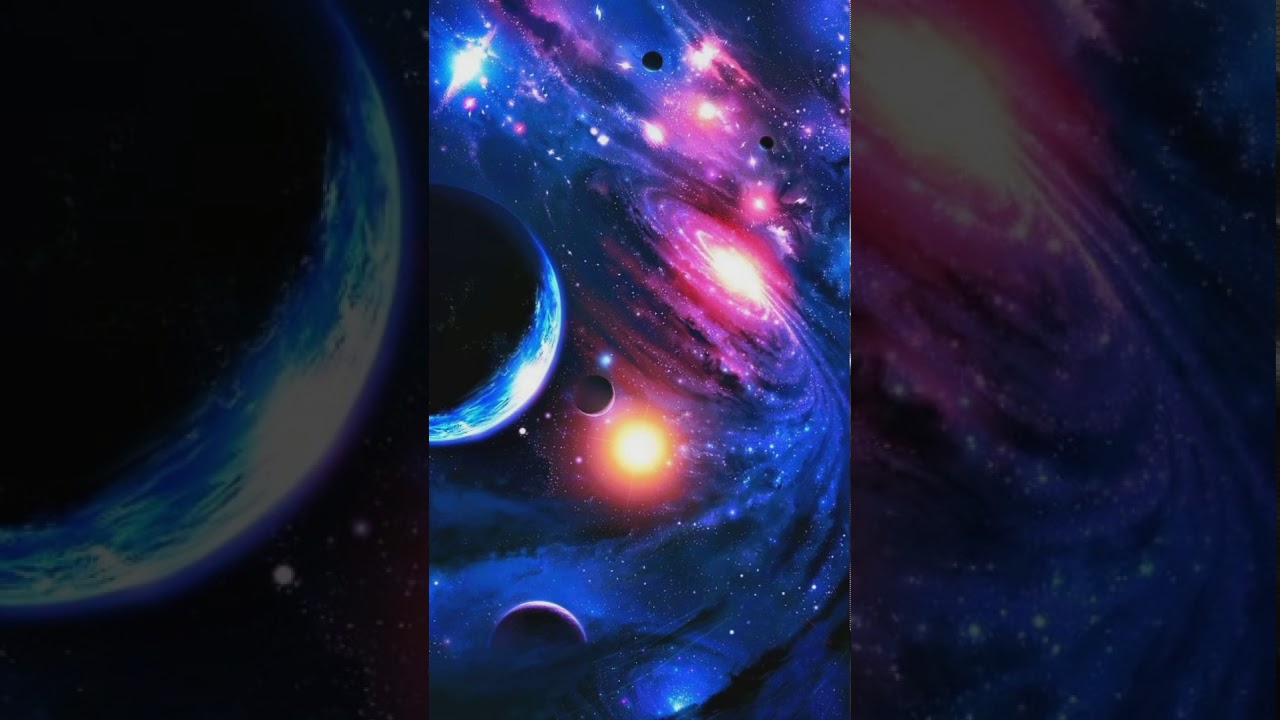 Beautiful Stars Galaxy Planets Animated Backgrounds Wallpaper For Mobiles 1080p Hd Youtube
