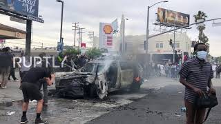 USA: LA George Floyd protest descends into looting and destructive mayhem
