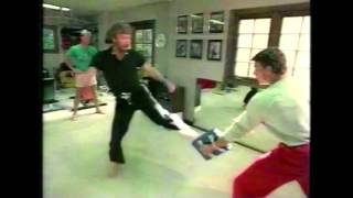 VAN DAMME and CHUCK NORRIS - Martial Arts Training (1984)
