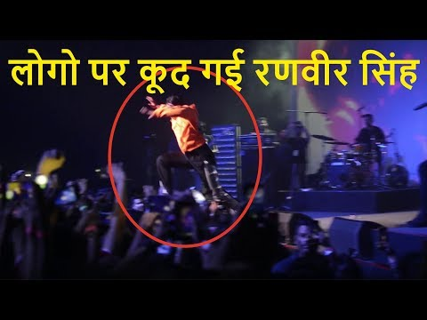ranveer singh dives into crowd  divine first gully fest 2018  bullet singh boisar