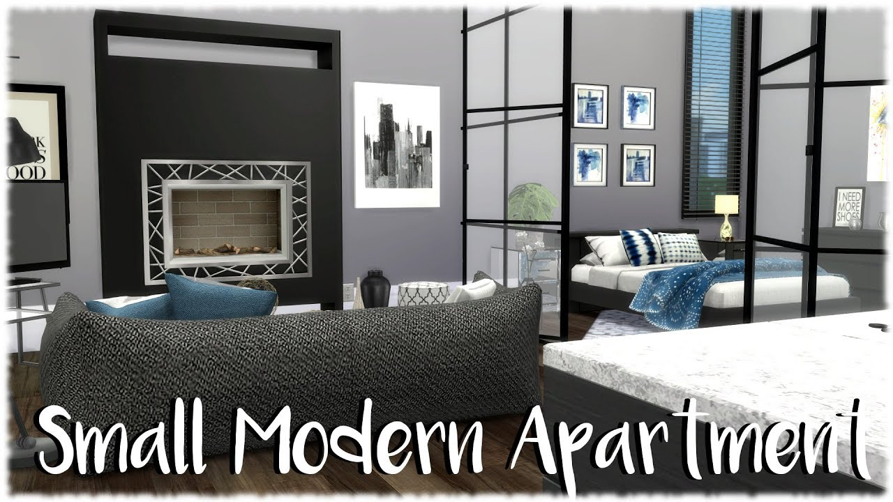 The Sims 4: Speed Build // SMALL MODERN APARTMENT + CC Links - YouTube
