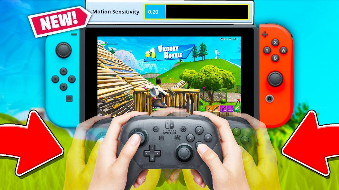 What Are Motion Controls Fortnite Fortnite S New Motion Control On Nintendo Switch Fortnite Season 5 New Gyro Controls Youtube