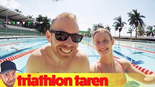 Ironman Triathlon Swim Training at the Hidden Pool in Campeche