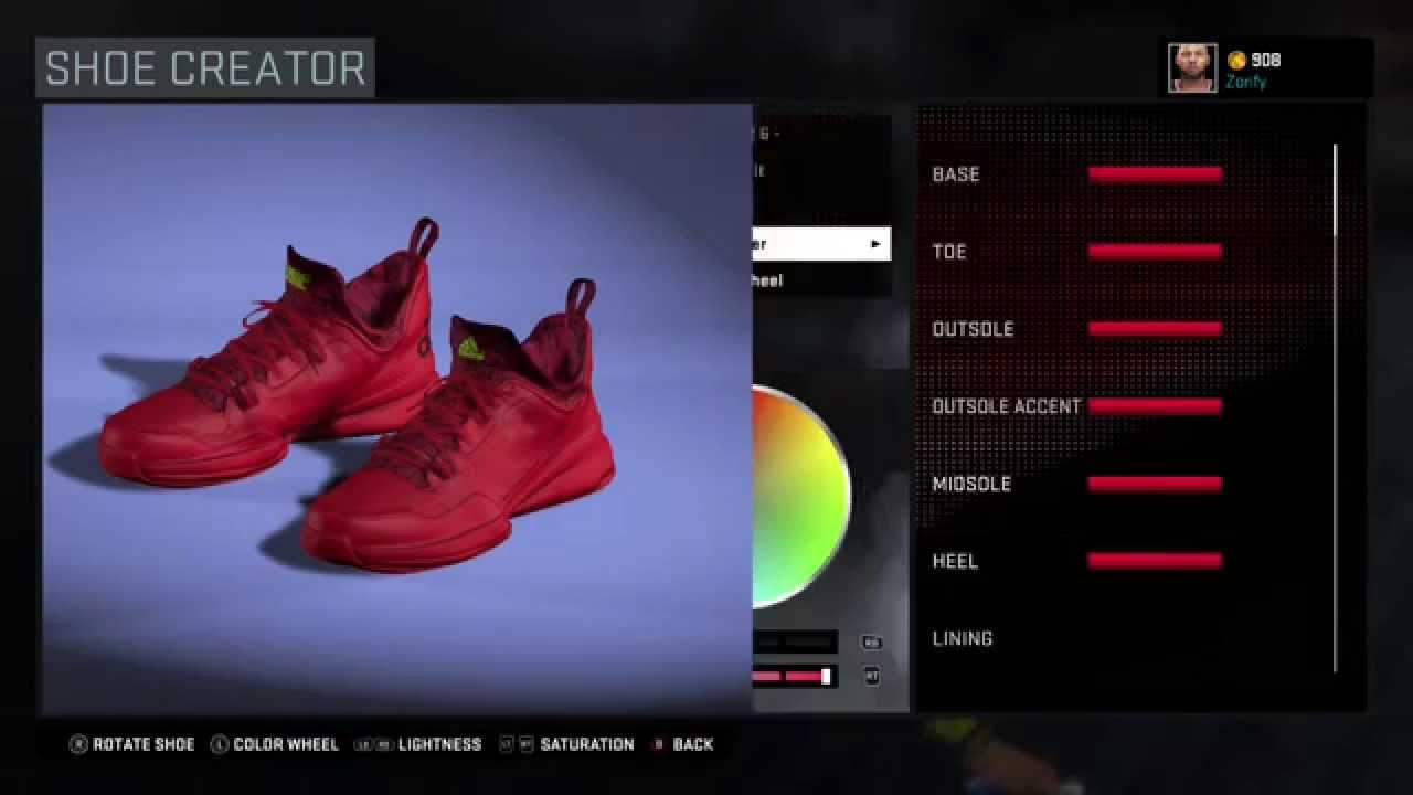 80b82a623d6 NBA 2K16 Shoe Creator - Adidas D Lillard 1