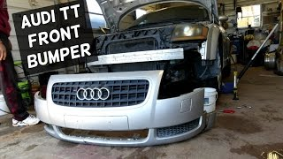 AUDI TT FRONT BUMPER COVER REMOVAL REPLACEMENT