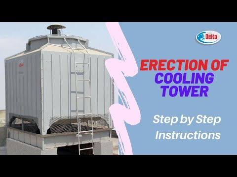 Erection of Delta Cooling Tower