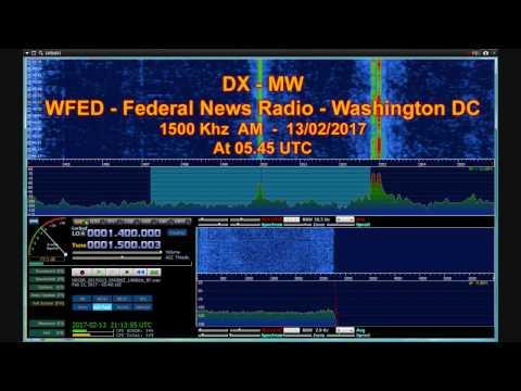 WFED Federal News Radio 1500 Khz Washington DC - SDRplay