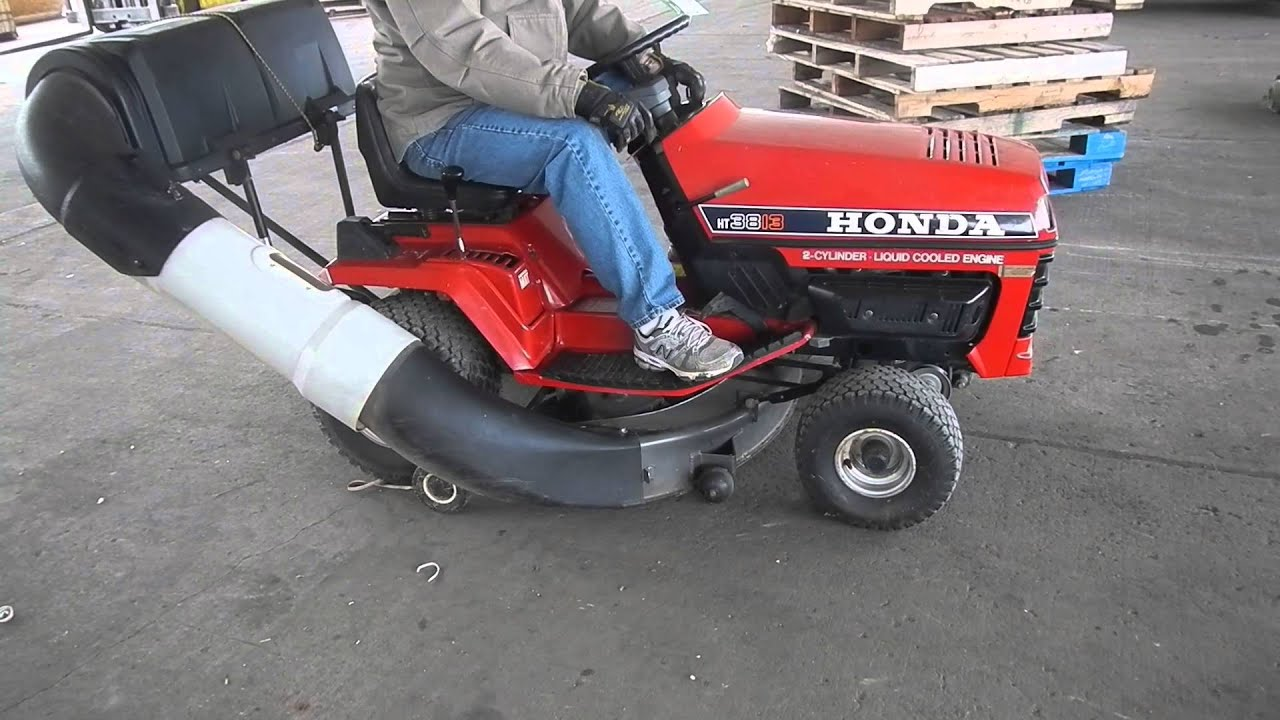 1989 honda ht3813 lawn tractor youtube. Black Bedroom Furniture Sets. Home Design Ideas
