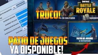 FORTNITE | NUEVO TRUCO PARA PODER JUGAR EL NUEVO MODO DE JUEGO *PATIO DE JUEGOS*! XBOX, PC, PS4