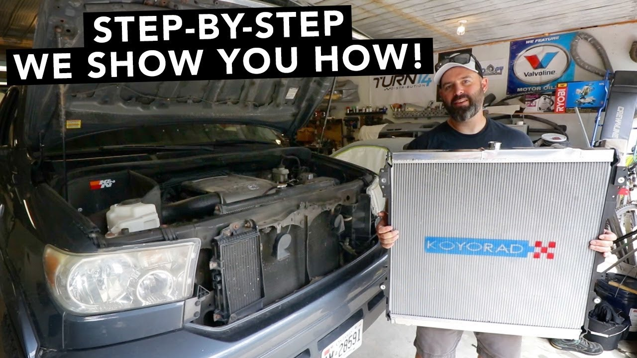 How To Replace A Toyota Tundra Radiator Youtube