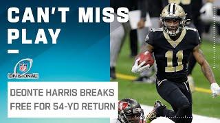 Deonte Harris Pinballs Off Hit for Massive Punt Return!