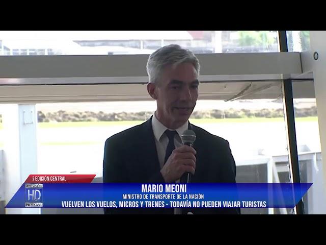 Ministro Meoni Vuelven los vuelos, micros y trenes