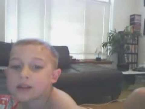 Cute baby sings while watching himself on webcam for the