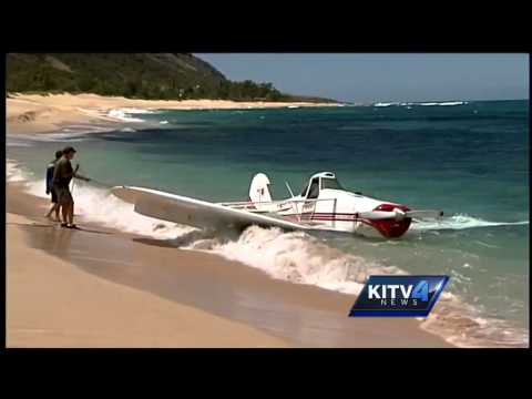 Pilot walks away after ditching plane on North Shore
