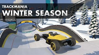 NEW Winter Campaign in Trackmania - All Author Medals Speedrun