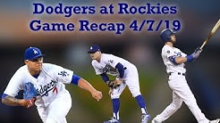 Dodgers at Rockies Game Recap - Dodgers Get Their First Sweep Of The Season Before Heading To STL