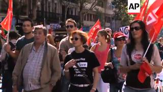 Union protests against austerity measures