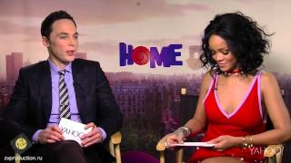 Rihanna & Jim Parsons Interview Each Other for Yahoo! (Русский перевод)