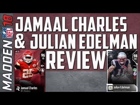 96 Jamaal Charles and 98 Julian Edelman Dual Review! MUT 18 Card Reviews