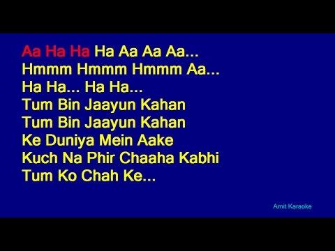 Tum Bin Jaayun Kaha - Kishore Kumar Hindi Full Karaoke with Lyrics