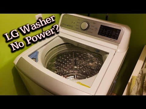 LG Top-Load Washer Won't Turn On, No Power (Fix Repair Solution) wt7500cw wt7800cw