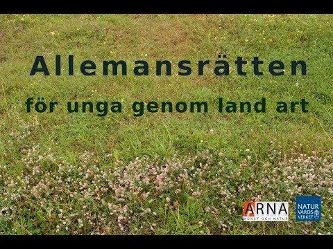 ARNA-projektet Allemansrätten för unga genom land art
