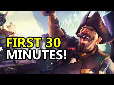 ♥ My First 30 Minutes In Sea Of Thieves! Very Positive First Impression