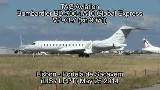 TAG Aviation Bombardier BD-700-1A10 Global Express VP-CLY (cn 9071)