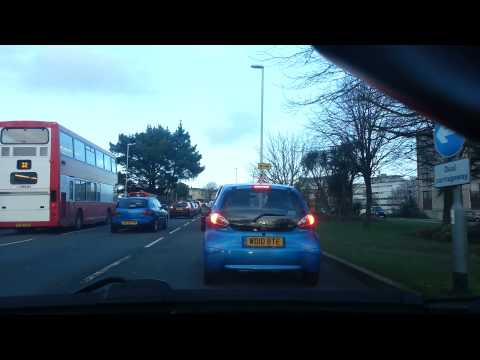 Driving in UK: Devonport, Plymouth to Armada Centre