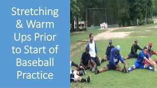 Baseball Stretch & Warm Up Excercises | Baseball Drills| @ Dominican Baseball Academy
