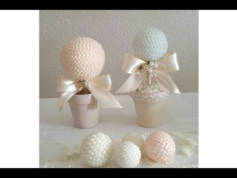 DIY| BEADED WEDDING BALL/ BRIDAL SHOWER, SPECIAL EVENTS, HOME DECOR