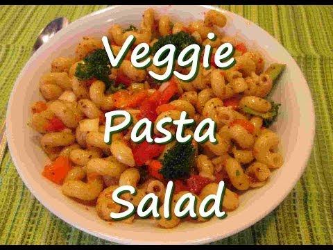 Easy Vegetable Pasta Salad Recipe ~Veggie AWESOME!