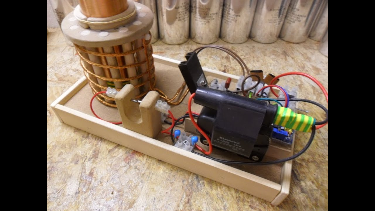 Nikola Tesla Coil Update 2 First Try Out Ignition Coil