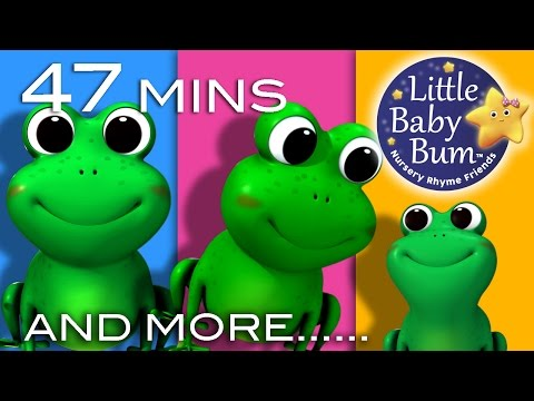 Thumbnail: 5 Little Speckled Frogs | Plus Lots More Nursery Rhymes | 47 Minutes Compilation from LittleBabyBum