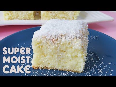 SUPER MOIST COCONUT CAKE (No Butter, No Oil) | Tres Leches Cake | Easy Dessert | Baking Cherry