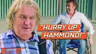 James May's Fed Up of Looking After an Injured Richard Hammond | The Grand Tour