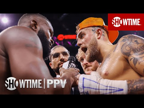 Jake Paul & Tyron Woodley Talk Rematch During Post-Fight Interview | SHOWTIME PPV
