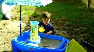 Anthony Playing With His Sand Table